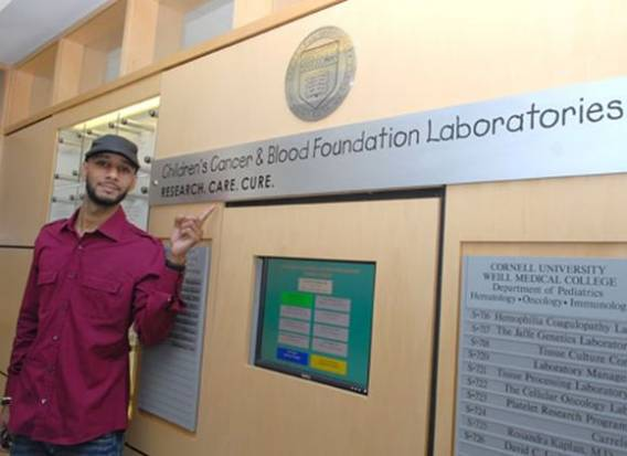 Swizz Beatz supports Children's Cancer & Blood Foundation