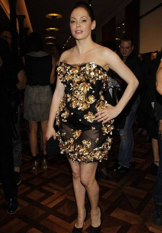 The actress donned this dress during the 2012 Milan Fashion Week.