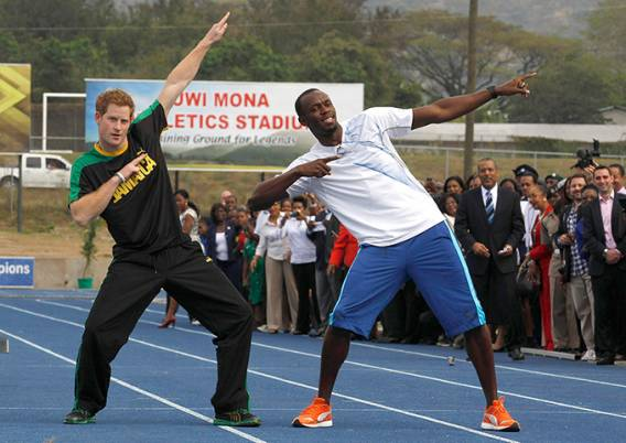 Prince Harry wears Puma Men's Bolt Faas 400 Jam Running Shoes