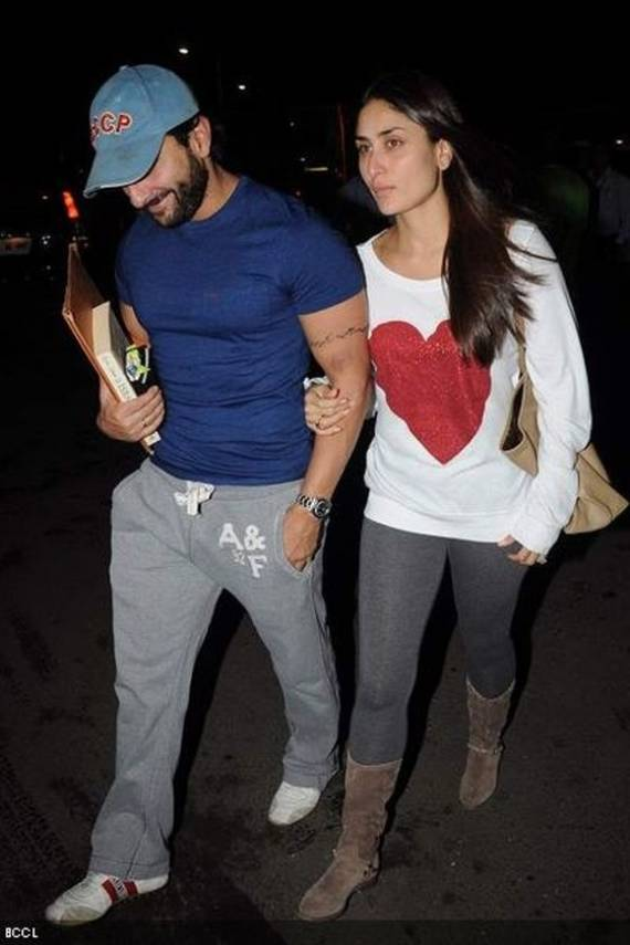 Kareena wears Wildfox Couture Red Sparkle Heart Baggy Beach Jumper