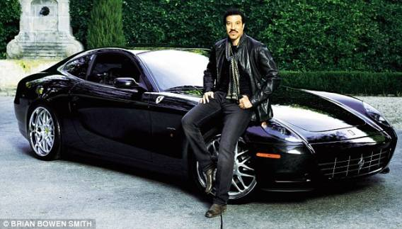 photo of Lionel Richie Ferrari Scaglietti, Mercedes S550, Range Rover L322 - car