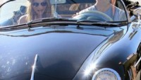 Adam Levine loves to drive through the streets of Los Angeles in his metallic black Porsche 356.