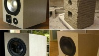 High-fidelity speakers made of solid stone