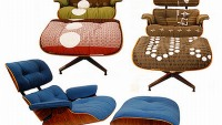 Vintage Eames lounge chairs gets a vintage makeover with Maharam upholstery