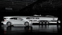 Cigarette racing boats inspired by Mercedes Benz AMG Black series