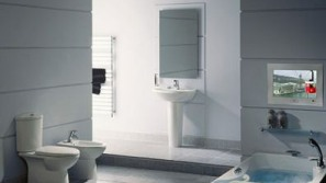 New TileVision Waterproof TV For Your Bathroom