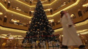 Most expensive Christmas tree unveiled at Emirates Hotel, Abu Dhabi