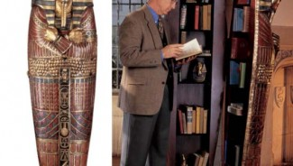Lifesize King Tutankhamun Sarcophagus Cabinet says all about your collectors taste