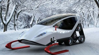 The Futuristic Snow Crawler Concept Snowmobile by Michal Bonikowski