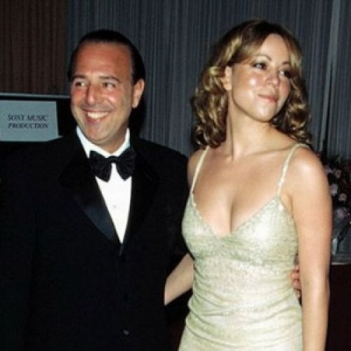 Tommy Mottola and Mariah Carey