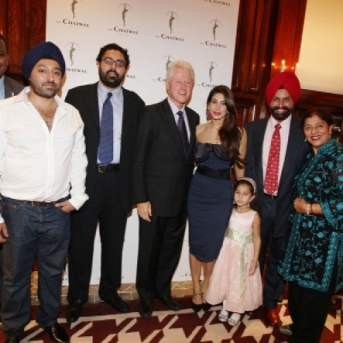At the inaugration of hotel 'The Chatwal New York'