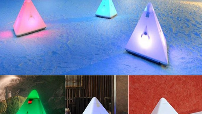 Make 01 Black Forrest Speakers are the sexiest outdoor speakers with mood lights