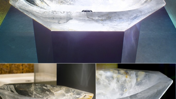 Most expensive rock crystal sink by High Touch: Exclusive
