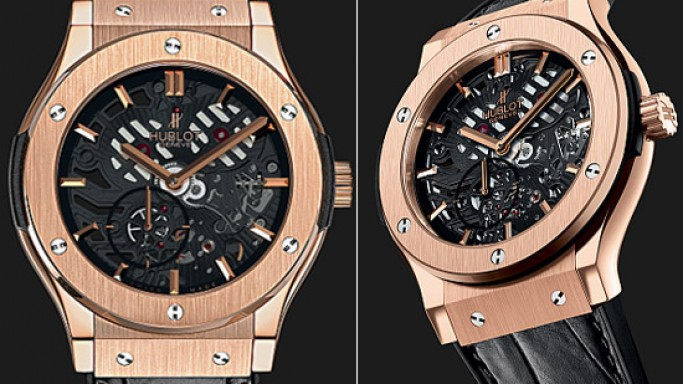 Hublot goes extra-thin with its limited edition skeleton watch
