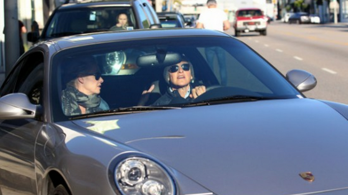 Ellen DeGeneres has been spotted driving her black colored Porsche 911 Carrera S