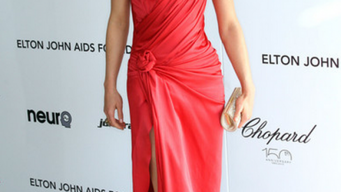 She has been spotted wearing these designer heels at an Elton John Aids Foundation event.