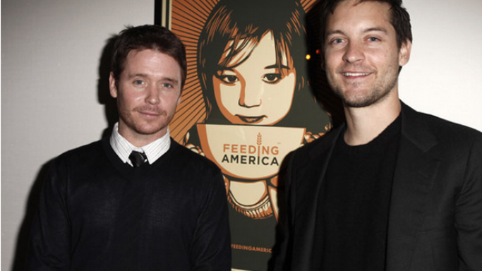 Kevin Connolly and Tobey Maguire attend the Feeding America cocktail party in 2009.