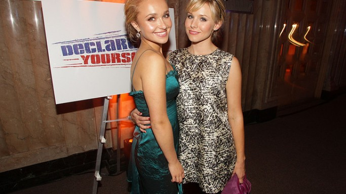 Hayden Panettiere and Kristen Bell hung out at the Declare Yourself party