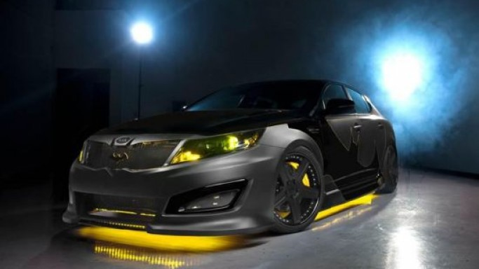 The one-off Batman-inspired Kia Optima