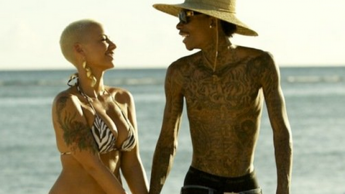 Amber Rose was photographed almost a year back vacationing in the exotic beach resort of Hawaii.