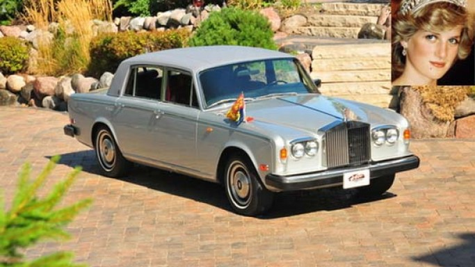 Princess Diana's Armored Rolls Royce known to be the Britain's official embassy car is up for grabs
