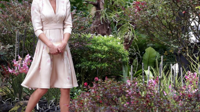 The Duchess of Cambridge was spotted visiting the Singapore Botanical Garden wearing Sledge Pump footwear from L.K.Bennett.