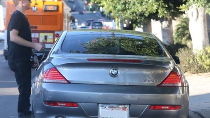 Adam Lambert drives BMW 650i