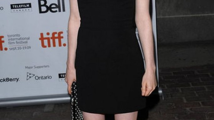Ellen Page wears Miu Miu Taffeta Strapless Dress