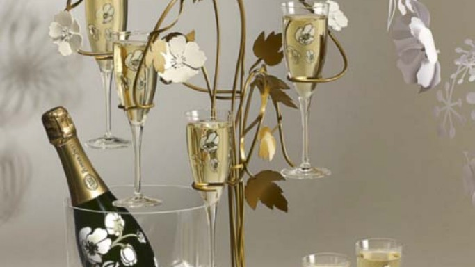 Tord Boontje glorifies champagne serving ritual with Perrier-Jouët Champagne Tree