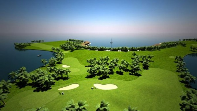 World's first floating golf course to be solar powered
