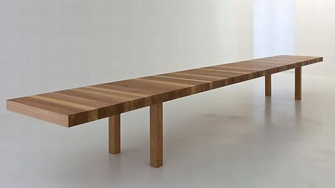 Jean Nouvel's limited edition €70,000 'La Table au Km' wooden table