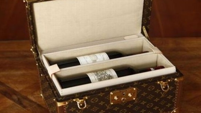 Custom-made Louis Vuitton wine carrying case