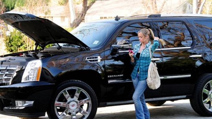 The actress is often spotted driving her black $75000 Cadillac Escalade