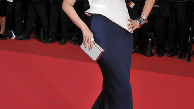 Aishwarya Rai Bachchan was seen carrying this Ferragamo clutch to the Sleeping Beauty Cannes Premiere last year.