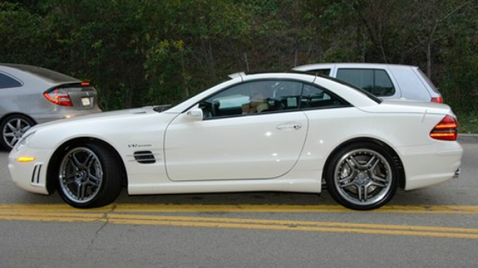 SLK 350 car - Color: White  // Description: