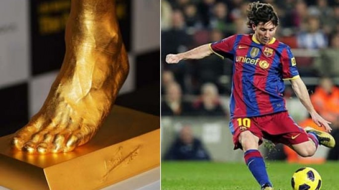 Japanese Jeweler Ginza Tanaka puts 25kg Pure Gold Replica of Lionel Messi's Left Foot on sale for $5.25M