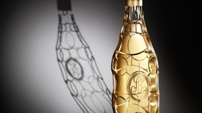 French champagne house Louis Roederer's limited edition Cristal Jeroboam is encased in 24-carat gold