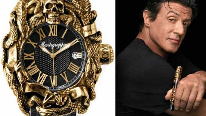 Sylvester Stallone and Montegrappa present the Chaos Automatic Analogue Watch at Baselworld