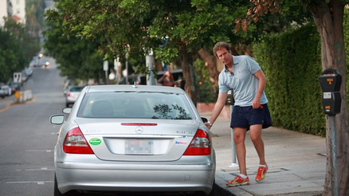photo of Will Ferrell Mercedes E320 - car