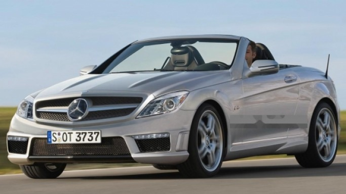 Mercedes SLK car - Color: Silver  // Description: amazing