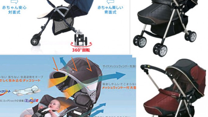 Combi's New Baby Buggy Boasts Temperature Control Function