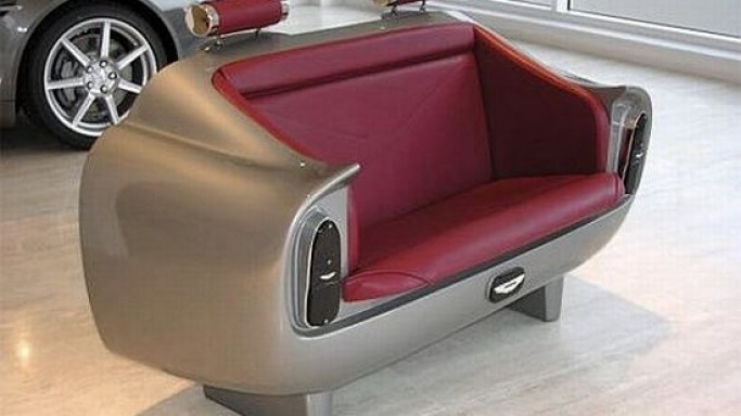 Real Aston Martin DB6 Couch from Aston Martin Heritage Designs