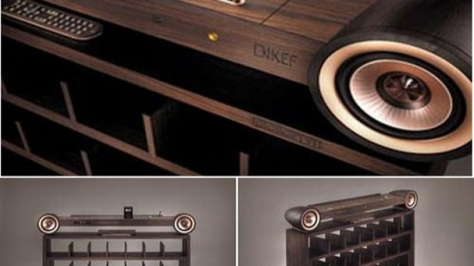 Stringless Pleasure hybrid stereo-cum-shelving unit