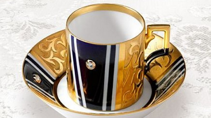 Diamond Studded Coffee Cup by KPM