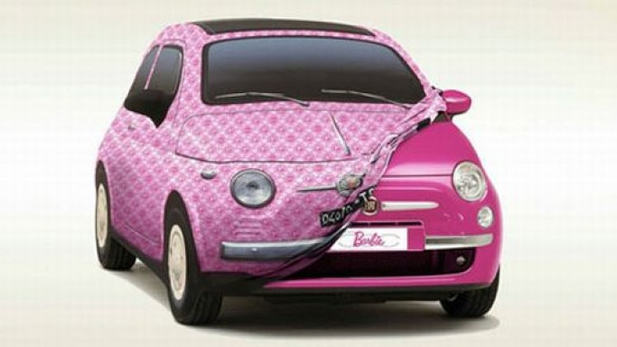 Fiat 500 Barbie edition gets crystal-encrusted hubcaps