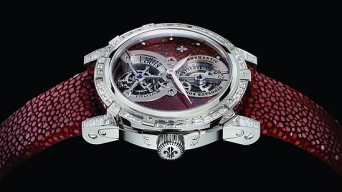Dinosaur bones housed in Louis Moinet Jurassic Tourbillon watch