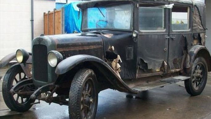 Rare 1929 Austin found in a garage is up for grabs