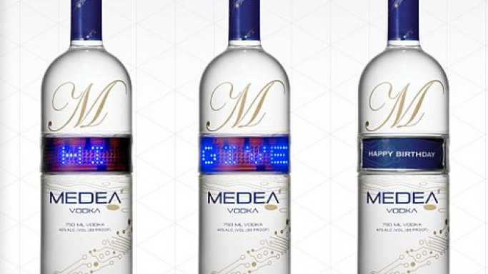 Unleash your inner poet with Medea vodka programmable bottles