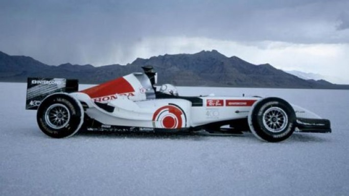 F1 land speed record car 'Bonneville 400' reaches Bonhams