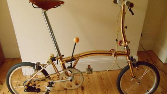24-carat gold-plated Brompton S2L bicycle reaches eBay